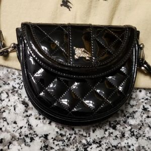 Burberry quilted patent crossbody